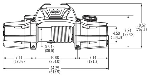Warn ZEON 12 Winch scheme
