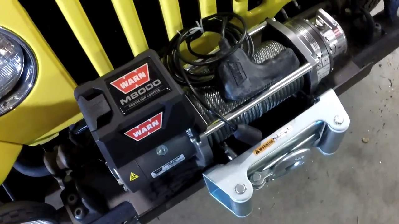 Warn 26502 M8000 8000 Lb Winch Advantages And Review How To Wire A Jeep Installing On Tj