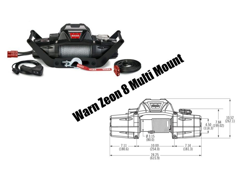 Warn 12 000 Lb Winch Additionally Wiring Diagram Also Suv And Truck Winches Reviews Zeon 8 Multi Mount Kit Review
