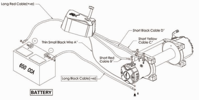 Smittybilt 97495 XRC Battery Cable Wiring Diagram